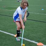 Field Hockey Drills - Dribbling between Cones