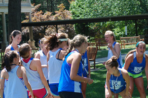 Team Building Exercises at our Field Hockey Camp