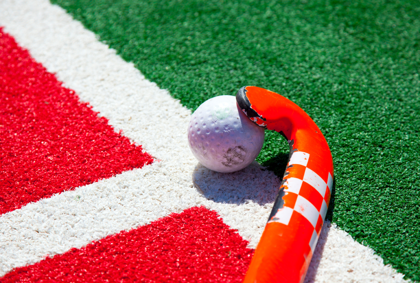 Field Hockey Stick and Ball